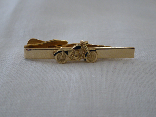 Motorbike Tie Clip - Vintage Motorcycle Tie Pin by Stratton